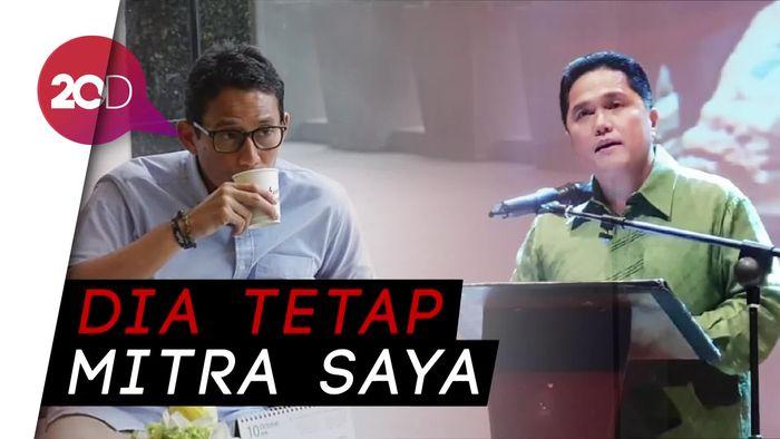 Erick Thohir Dilaporkan ke Bawaslu, Sandi: Ini Bagian Demokrasi