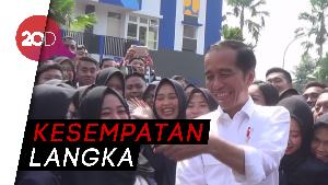 Jokowi Ngevlog Bareng Mahasiswa STKIP PGRI Tulungagung