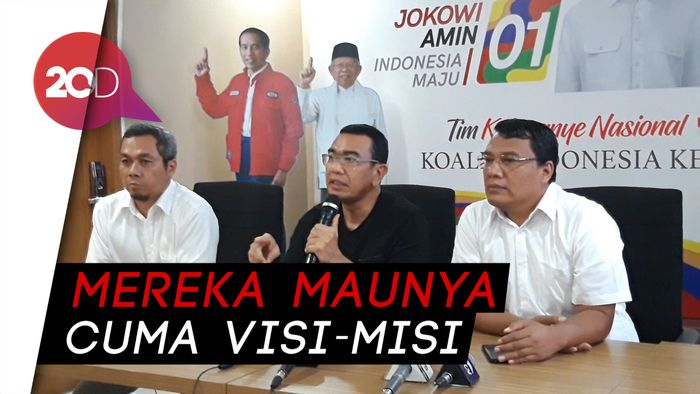 Kubu Jokowi Balik Tuding Prabowo-Sandi Takut Debat!