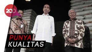 Kata Jokowi Beras Bulog Tokcer Tanpa Cacat