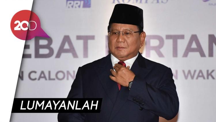 Prabowo Ngaku Tegang Jalani Debat Pertama