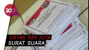 Surat Suara Pemilu 2019 Resmi Dicetak