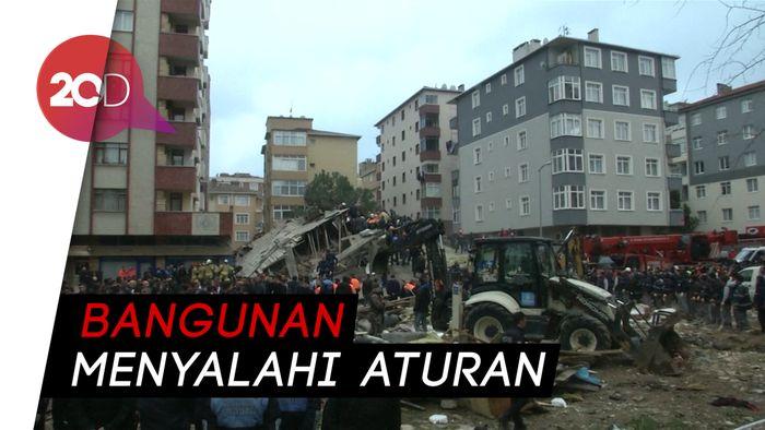 Apartemen di Istanbul Ambruk, Satu Orang Tewas