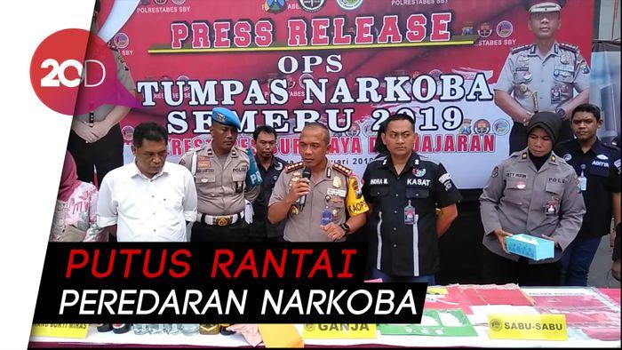 Polrestabes Surabaya Musnahkan 4 Kg Sabu dan Ribuan Ekstasi