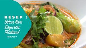 Resep Bihun Kari Sayuran Thailand