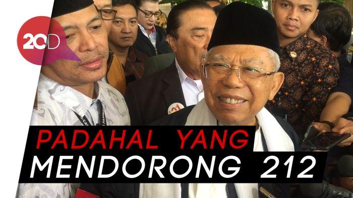 Keluarkan Fatwa 212, Maruf Heran Tak Diundang ke Munajat 212