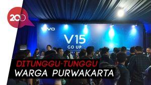 Meriahnya Kompleks Air Mancur Sri Baduga Jelang Grand Launch Vivo V15