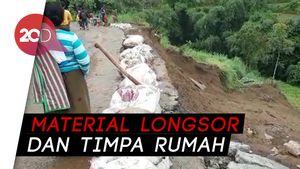 Jalur Wisata Solo-Selo-Borobudur Amblas Setelah Hujan Deras