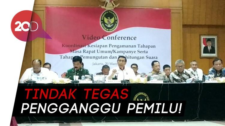 Lewat Telekonferensi, Wiranto Gelar Rapat Pengamanan Pemilu