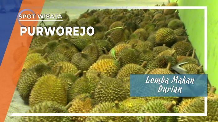 Lomba Makan Durian di Purworejo