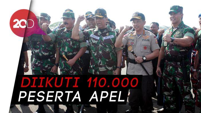 Dipimpin Wiranto, TNI-Polri Apel Pengamanan Pemilu 2019
