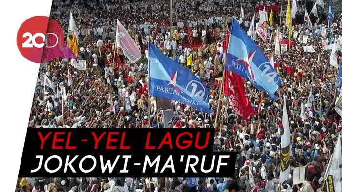 Prabowo Kampanye di Makassar, Projo Nyanyi Jokowi Lagi