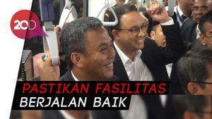 Saat Gubernur Anies dan Prasetyo Tinjau MRT Bersama