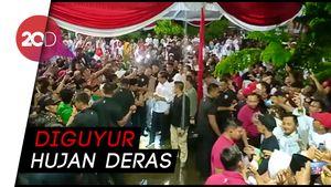 Disambut Hujan, Kampanye Jokowi di Ngawi Tetap Meriah