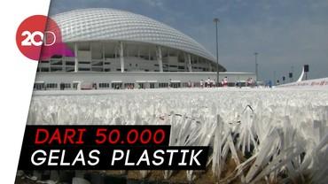 Inovatif! Sampah Plastik Piala Dunia 2018 Jadi Lapangan Sepakbola
