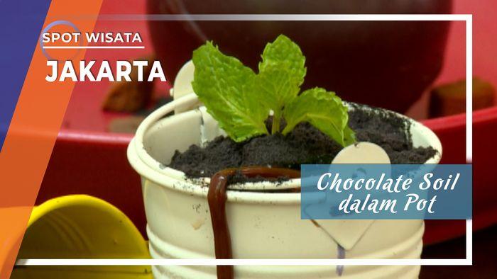 Sensasi memakan Coklat menyerupai pot tanaman berisi cacing di Kemang Jakarta Selatan