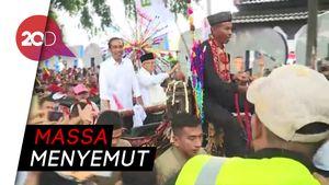 Berkemeja Putih Jokowi-Maruf Pawai Karnaval Naik Kereta Kuda
