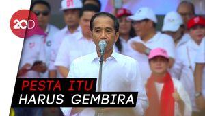 Jokowi: Pesta Demokrasi Itu Harus Gembira, Jangan Marah-marah