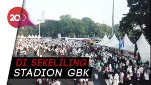 Posko Makanan Gratis Berjejer di Kampanye Akbar Prabowo-Sandi