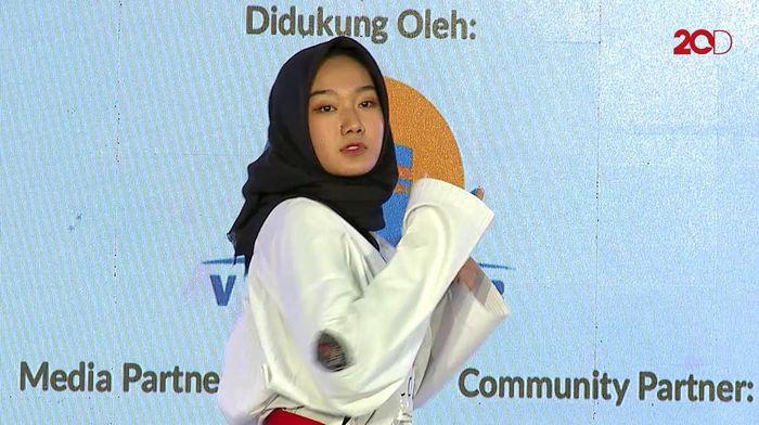 Aksi Taekwondo Khansa Greget Banget! - Sunsilk Hijab Hunt 2019 Yogyakarta