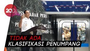 Anies: MRT Transportasi Egaliter, Presiden Saja Berdiri