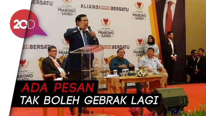 Tak Boleh Gebrak Podium, Prabowo Kini Pilih Joget