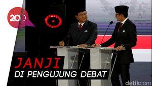 Di Akhir Debat Prabowo-Sandi Janji Tak Ambil Gaji, Apresiasi Uang Relawan