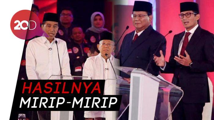 Elektabilitas Jokowi Vs Prabowo di Hari Terakhir Kampanye