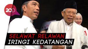 Kedatangan Jokowi-Maruf Amin di Lokasi Debat Diiringi Selawat
