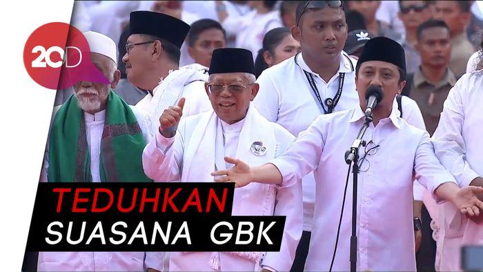 Lantunkan Selawat, Yusuf Mansur Tutup Pidato Jokowi-Amin
