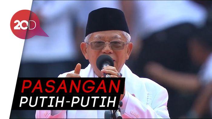 Maruf Amin: Hari Ini Putihkan GBK, 17 April Putihkan TPS