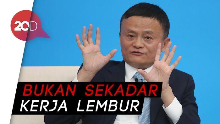 Tuai Kritikan, Jack Ma Jelaskan Soal Sistem Kerja 996