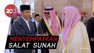 Usai Umrah, Jokowi Sempatkan Ziarah ke Makam Nabi Muhammad SAW