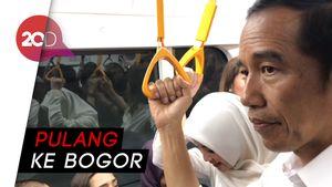 Habis ke Grand Indonesia, Jokowi Berdesakan di MRT