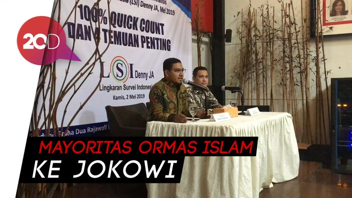 LSI: Jokowi Unggul di NU-Muhammadiyah, Prabowo PA 212-FPI