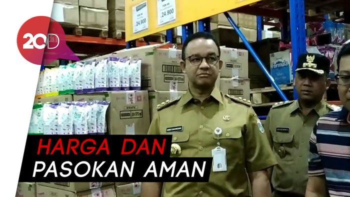Anies Pastikan Kebutuhan Pangan Warga Aman Selama Ramadan