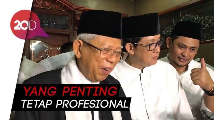Soal Kabinet Zaken, Maruf: Politik Ada, Profesional Ada