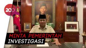Prabowo Bandingkan Penanganan KPPS yang Meninggal dengan Sapi