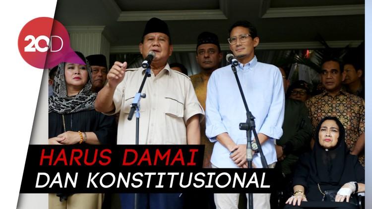 Dear Peserta Aksi 22 Mei, Prabowo Minta Jaga Ketertiban!