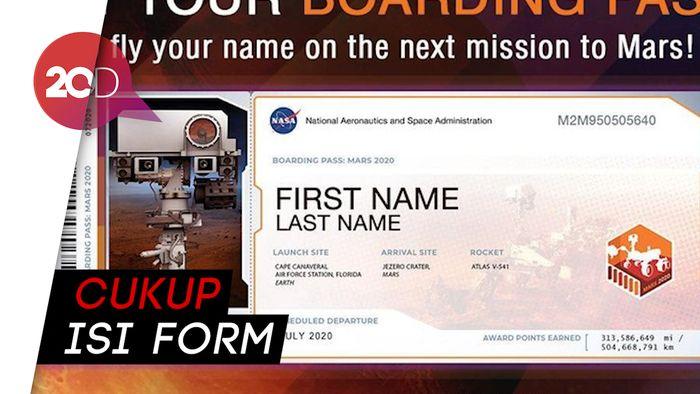Namamu Bisa Diterbangkan ke Mars oleh NASA, Begini Caranya!