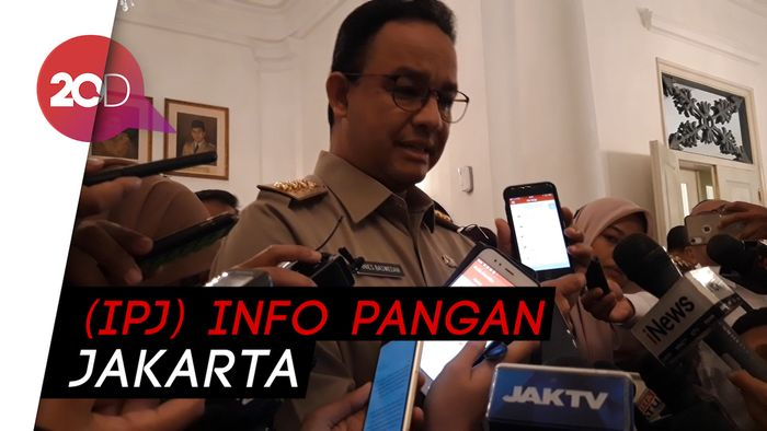 Anies Ajak Warga Pantau Harga Pangan Via Aplikasi
