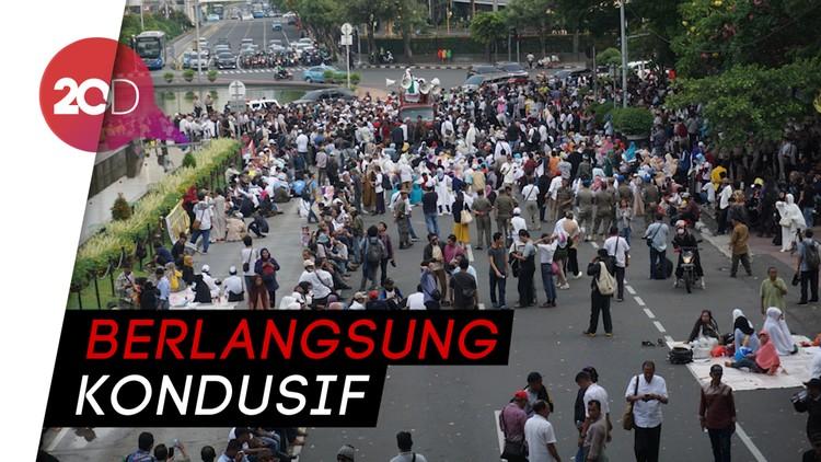 Massa Aksi Kawal Sidang MK Bubarkan Diri