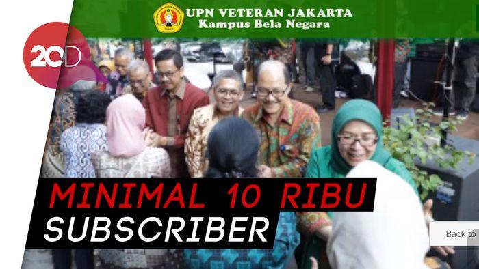 YouTuber Bisa Dapat Jalur Prestasi di UPN Veteran Jakarta
