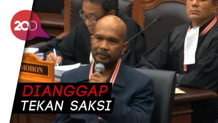 Anggap Hakim MK Tekan Saksi, BW Interupsi dan Diancam Dikeluarkan