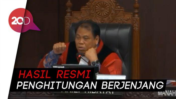 Hakim MK: Hasil Resmi Pemilu adalah Penghitungan Manual