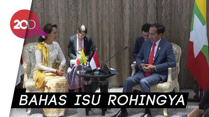 Pertemuan Jokowi dan Aung San Suu Kyi di KTT ke-34 ASEAN