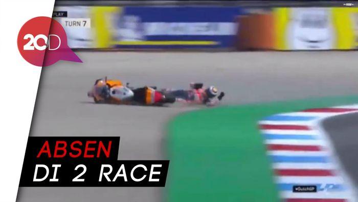 Crash! Lorenzo Mengalami Retak Tulang Belakang