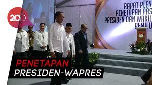 Jokowi-Maruf Hadiri Penetapan Presiden-Wapres Terpilih