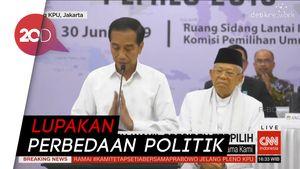 Jokowi: Lupakan Perbedaan Politik 02-01 yang Membelah Kita