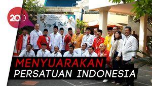 Rombongan TKN Jokowi-Maruf Tiba di KPU Naik Bus